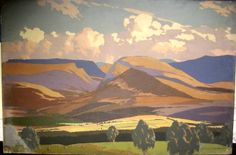 Norman Wilkinson   1930 LMS poster of the Cairngorms