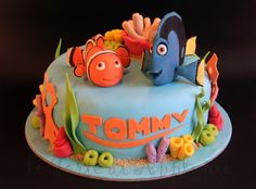 to ] Great to own a Ray-Ban sunglasses as summer gift. Finding Nemo Cake, Finding Dory, Dory Cake, Sea Cakes, Disney Cakes, Cake Decorating Tutorials, Cute Cakes, Themed Cakes, Cupcake Cakes