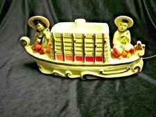 PREMCO TV/Table Lamp 1954 Chinese Boat Ceramic Vintage