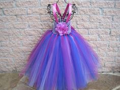 Tutu Dress PURPLE AND PINK Elastic Top 20 Inch Skirt Toddler 1-5T