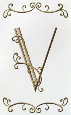 Garden Flag Alphabet- V