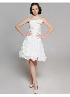 Beautiful Strapless Taffeta Mini Wedding Dress on sale, a perfect Mini Wedding Dresses with high quality and nice design. Buy it now or discover your Mini Wedding Dresses Short Dresses, Prom Dresses, Formal Dresses, Cheap Wedding Reception, Wedding Ideas, Mini Wedding Dresses, Bridal Gowns, White Dress, Bride