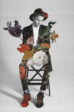 Stunning and Poetic Fashion Collages