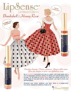 New limited-edition LipSense colors for the late summer/fall season: Bombshell and Honey Rose. They are soft and gorgeous!