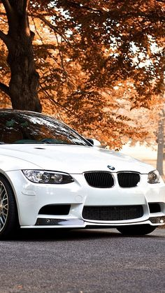 White BMW M3 Autumn Background iPhone 6 Plus HD Wallpaper - http://freebestpicture.com/white-bmw-m3-autumn-background-iphone-6-plus-hd-wallpaper/