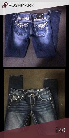Miss Me Jeans Miss Me Jeans Skinny jeans. Mid rise. Like new   Condition size 26 Miss Me Jeans Skinny