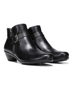 Another great find on #zulily! Black Hitch Leather Ankle Boot #zulilyfinds