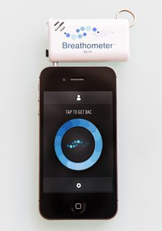 Breathometer - a breathalyzer for your smartphone (it can't be worse than the iBreath http://davidsteele.com/ibreath-breathalyzer-fm-transmitter-for-ipod-iphone )
