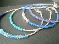 Tanzanite bracelet Natural tanzanite jewelry by cameebijoux