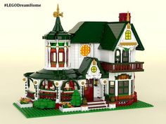 Build a Victorian house replica one brick at a time with this new project up for a vote on the Lego Ideas site. Home Design, Design Ideas, Lego Winter Village, Lego Village, Lego Christmas, Christmas Ideas, Lego Display, Lego Boards, Parks