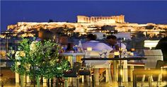 Acropolis night view in Athens