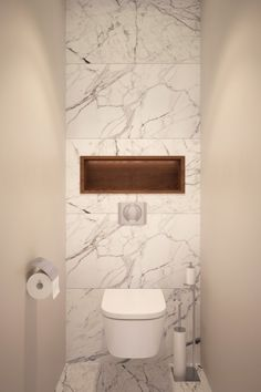 Designers Alexei Ivanov and Pavel Gerasimov of studio GEOMETRIUM completed a modern apartment design in Saint Petersburg, Russia. A contemporary crib with plenty of natural materials was the main requ Small Toilet Room, Guest Toilet, Downstairs Toilet, Bathroom Toilets, Laundry In Bathroom, Small Bathroom, Bathroom Modern, White Bathroom, Bathrooms