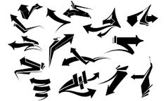 graffiti art Arrows 2 is a sequel to our popular Arrows pack. This time the arrows are more graffiti inspired and geometric. The edges are harder and more square. But they still retain a Graffiti Lettering Alphabet, Graffiti Alphabet Styles, Graffiti Writing, Graffiti Font, Graffiti Tagging, Graffiti Characters, Graffiti Styles, Graffiti Doodles, Graffiti Tattoo