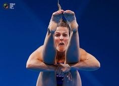 Sweden's Anna Lindberg performs a dive during the women's 3m springboard preliminary round at the London 2012 Olympic Games at the Aquatics Centre. JORGE SILVA/REUTERS