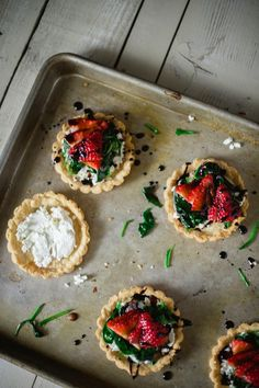 Spring Strawberry & Goat Cheese Tart