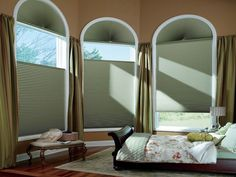 Duette® honeycomb shades with Top-Down Bottom-Up, available at Edgewood Custom Interiors in Weed, CA