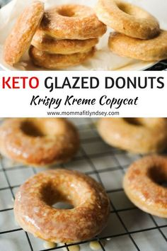 Keto Donuts Recipe make for an easy keto snack. These low carb donuts are an easy keto dessert with delicious keto icing. Keto Foods, Fast Foods, Ketogenic Recipes, Keto Snacks, Low Carb Donut, Low Carb Sweets, Low Carb Desserts, Low Carb Recipes, Meal Recipes
