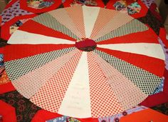 Tree Skirt - Great pattern.  The template is perfect and it was easy to whip up a new tree skirt.