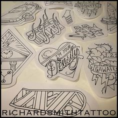 "richardsmithtattoo: ""⚡️⚡️!!ONCE AGAIN!!⚡️⚡️ This Wednesday, October 21st 2015 @threekingseastvillage!! I'll have a bunch of Back To The Future designs available to tattoo!!! This isn't really a..."