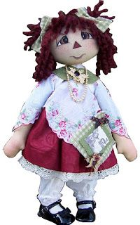 Patrons.. website is not in English.. Rag Doll pattern template
