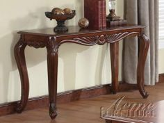 Acme 10242 Birmingham Sofa Table, Cherry Finish by ACME. Save 22 Off!. $275.00. This is a traditional occasional coffee end table set available in rich cherry finish. Measures 52-inch length by 18-inch width by 30-inch height. Stylish cabriolet legs adds to the traditional elegant look of these living room. Made from solid hard wood and veneers. Features beautifully handcrafted carved leaf details on table apron and legs. This is a traditional occasional coffee end table set availabl...