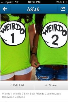 Best Friend T-shirts except with pink shirts an d no white circle just orange writing.