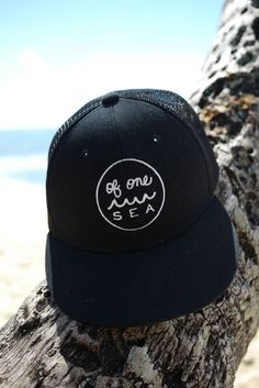 Regular Black Trucker Hat with Embroidered Logo in White