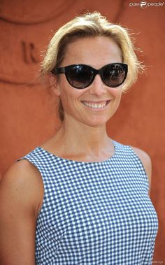 Anne-Sophie Lapix - People au village des Internationaux de France de tennis de Roland-Garros à Paris, le 8 juin 2014.