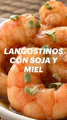 Shellfish Recipes, Shrimp Recipes, Good Food, Yummy Food, Salty Snacks, Cooking Recipes, Healthy Recipes, Food Platters, Lunch Snacks
