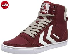 Slimmer Stadil Waxed Canvas Lo-Top, Sneakers Basses Mixte Adulte, Rouge (Ribbon Red), 36 EUHummel