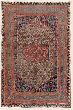 """BIJAR, Northwest Persian Antique 9' 4"""" x 14' 1"""" — Circa 1875 Rug - Claremont Rug Company Click to learn more about this rug."""