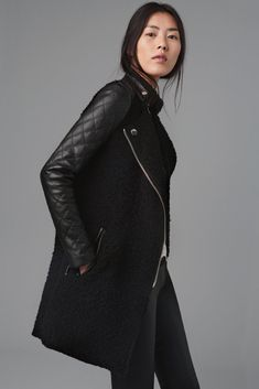 ZARA Quilted Sleeve Coat #Fall 2013