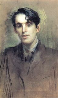 William Butler Yeats (13 juni 1865 – 28 januari 1939) - Portret door Sarah Purser, 1898