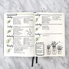 Bullet Journal Collection: 18 Super Pretty Weeklies #Collectibles