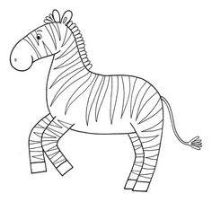 zebra Colorful Drawings, Just Kidding, Fun Crafts, Embroidery Designs, Kids, Craft, Animales, Fun Diy Crafts, Young Children