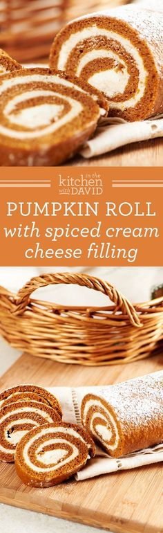 Learn how to make a flavorful roll with pumpkin, cream cheese and filling!