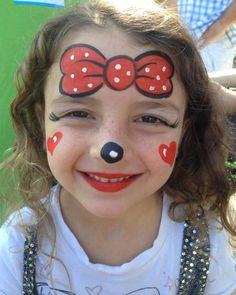 Gallery For gt Face Painting Minnie Mouse