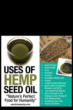Benefits of Hemp Oil - Nutrition, Disease Prevention, and Skin Care