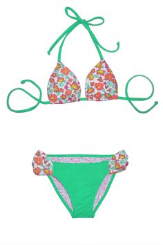 Mint + Floral Mikini Bikini -- if you haven't heard of Mikini seriously check it out!