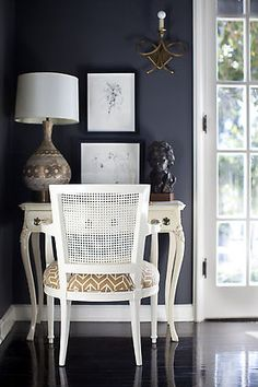 A beautiful and chic work space designed by Tamara Kaye Honey.