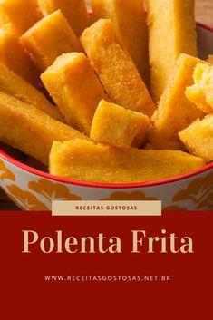 Receita de Polenta Frita Pasta, Finger Foods, Cornbread, Carne, Sweet Potato, Mango, Good Food, Food And Drink, Low Carb