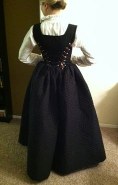 Well, Ifinally can make installment #3 in making this Elizabethan dress! And it's Kirtle time! Or I guess, 'petticoat bodies' time would be more accurate in this case. Ialso apologize ahead of time for the picture quality. My only camera right now is my iPhone, and it's proving to be…
