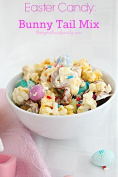 Easter Candy Bunny Tail Mix! The perfect combination of sweet and salty.