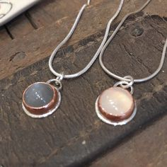 moonstone, copper and silver setting Mixed Metals, Metal Working, Copper, Pendant Necklace, Silver, Handmade, Jewelry, Hand Made, Jewlery