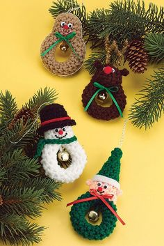 free christmas crochet ornament patterns – Knitting Tips Crochet Christmas Decorations, Holiday Crochet, Christmas Knitting, Crochet Gifts, Free Crochet, Christmas Patterns, Crochet Tree, Crochet Christmas Trees, Crochet Angels