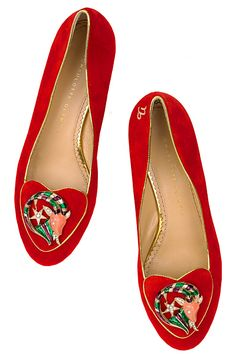 Charlotte Olympia Astrology / Zodiac slippers / flats (these are Capricorn)