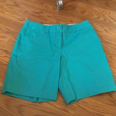 NWT Ann Taylor LOFT Aqua Shorts Bermuda shorts from LOFT! Brand new! Size 4 LOFT Shorts Bermudas