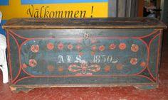 Antique Scandinavian Swedish trunk dated 1850 by RidaRidaRanka, $950.00