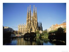 The Sagrada Familia in Barcelona, Spain.  Designed by Gaudi.  The detail of the architecture in person is incredible!
