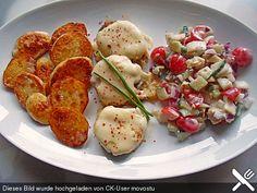 Frikadellen griechische Art mit Bratkartoffeln
